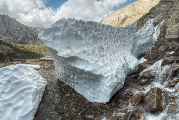 Massive Melting Snow Drift RMP Colorado Photos Bryan Maltais