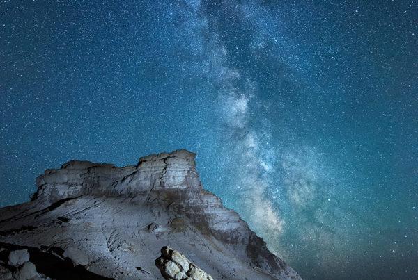 Wyoming Butte Milky Way Photo Bryan maltais