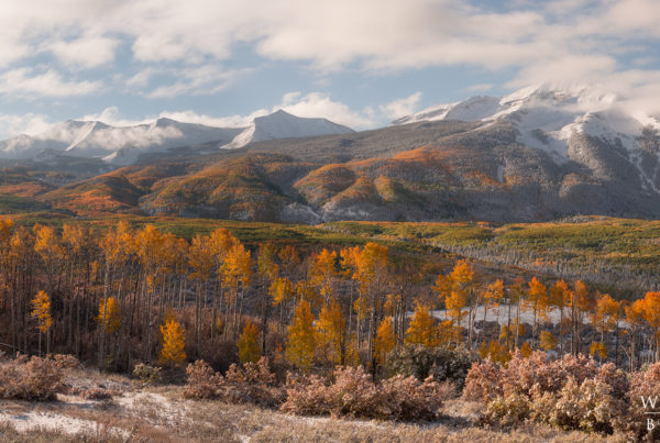beckwith peak fall colors crested butte colorado photos