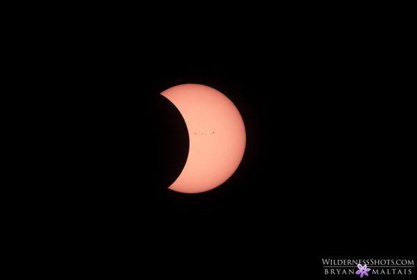 solar eclipse sun spots