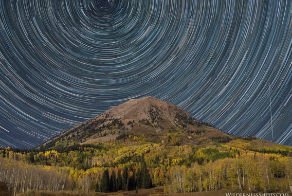 Gothic Mountain Fall Colors Star Trails Colorado