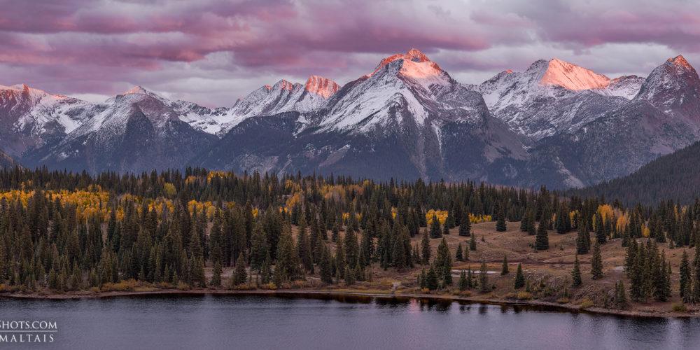 Grenadier Mountains Panorama Colorado Photos