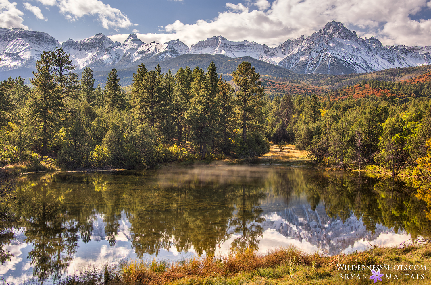 Mt Sneffels Pond Reflection Colorado Photos