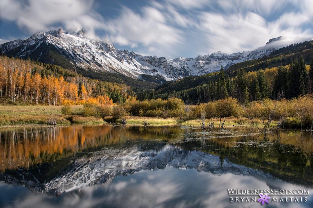 Mt Sneffels Reflection Colorado