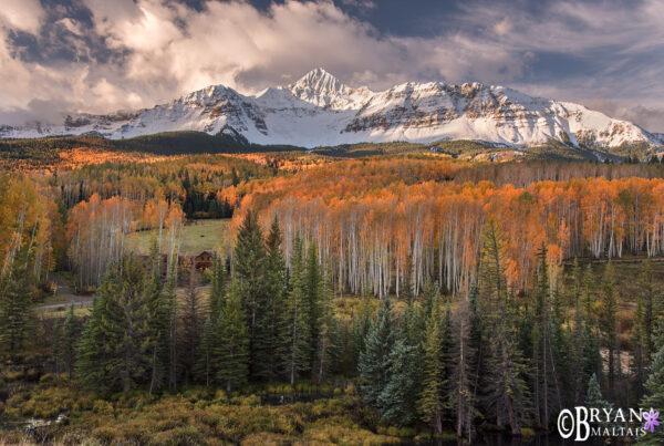 Mt Wilson Fall Colors Sunrise Colorado
